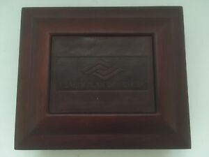Health Plan Of Nevada Empty Square Brown Wooden Jewelry Box W Leather Panel