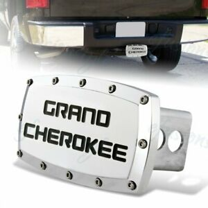 For Jeep Grand Cherokee Hitch Cover Plug Cap 2 Trailer Receiver Engraved Billet