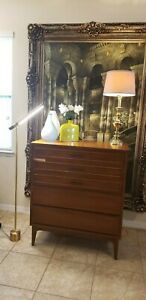 Mid Century Modern Dixie Tallboy Dresser Chest Of Drawers