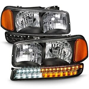 New Signal headlight Led Bumper Signal 4pc Set For 1999 2006 Gmc Sierra 2500hd