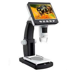 Lcd Digital Microscope 4 3 Inch 50x 1000x Magnification Zoom 1080p 2 0 Megapixel