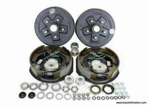3 5k Trailer Axle 10 Self Adjusting Electric Brake Kit 5 4 5 Bolt Circle Kit 0
