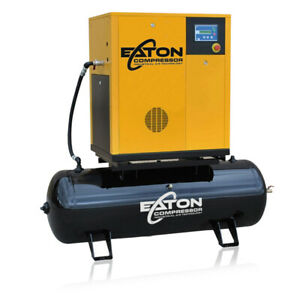 20hp Rotary Screw Air Compressor With 120 Gallon Tank Single Phase Vsd