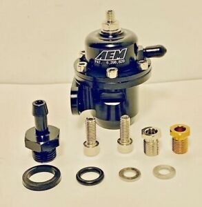 Aem Fuel Pressure Regulator Fpr 25 300bk Honda Civic Acura Integra B16a B18c D16