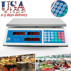 Digital Weight Scale Price Computing Retail Food Meat Scale Count Machine Usa