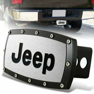 For Jeep Tow Hitch Cover Plug Cap 2 Trailer Receiver Black Frame Allen Bolts