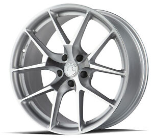 19x8 5 19x9 5 Aodhan Ls007 5x120 35 35 Silver Machined Face Rims New Set