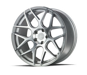 19x8 5 Aodhan Ls002 5x120 35 Silver Machined Face Rims New Set