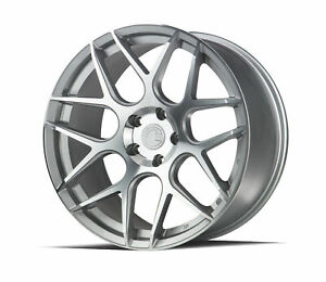 19x9 5 Aodhan Ls002 5x120 35 Silver Machined Face Rims New Set