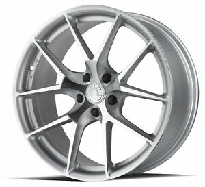 19x8 5 Aodhan Ls007 5x120 35 Silver Machined Face Rims New Set