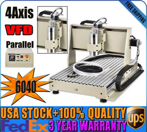 3 Axis Cnc6040 Router Parallel Engraving Milling Machine Water cooled 1 5kw Vfd