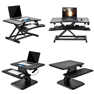 Black Small Adjustable Standing Computer Desk Home Office Laptop Work Table