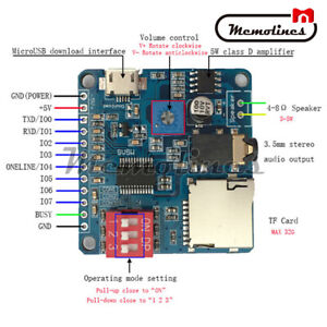 Voice Playback Module Mp3 Player I o Trigger Uart Control Sd tf Card For Arduino