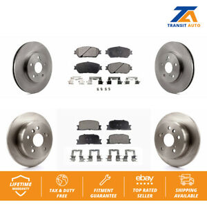 Front Rear Disc Rotors Ceramic Brake Pads Fits Toyota Camry Lexus Es300