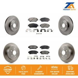 Front Rear Disc Rotors Ceramic Brake Pads Fits 2004 2010 Toyota Sienna