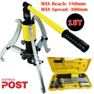 3in1 Hydraulic Gear Puller Pumps Oil Tube 2 Or 3 Jaw Drawing Machine 15ton 300mm