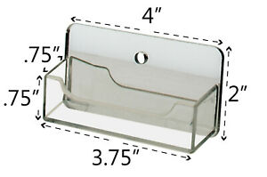 Business Card Holder Wall Mount Clear With Mirrored Backing Qty 12