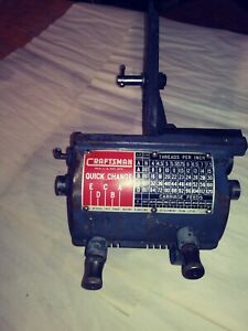 10 Or 12in Craftsman Lathe Quick Change Gear Box