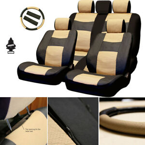 For Ford New Pu Leather Car Truck Suv Auto Seat Cover Front Rear Full Set