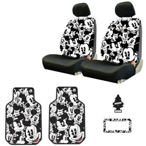 For Ford New Mickey Car Truck Suv Seat Covers Headrest Floor Mats Full Set