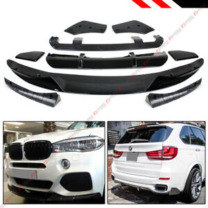 For 15 18 Bmw X5 F15 M Sport Mp Style Gloss Blk Front Rear Full Body Aero Kit