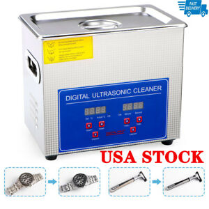 3l Stainless Steel Digital Industrial Heated Ultrasonic Cleaner Tank W Timer