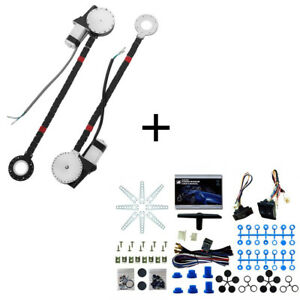 2 Door Universal Car Truck Electric Power Window Conversion Roll Up Switch Kit