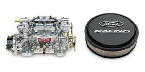 Edelbrock 9906 Reman 600 Carb And Proform 302 380 Air Cleaner Bundle