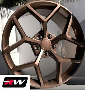 20 X9 Inch Wheels For Chevy Camaro 2010 2019 Copper Paint Z28 Rims