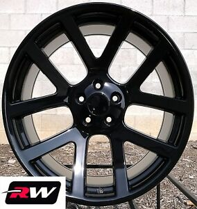 Chrysler 300 Oe Replica Wheels Viper 22 X9 Inch Gloss Black Rims 5x115 18