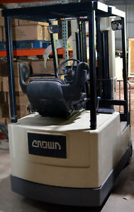 Crown 35sctts 36v Electric Sit down Forklift 3 wheel 3500lbs 190 h