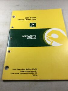 John Deere 1650 Series Chisel Plow Operators Manual
