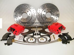 Wilwood Gm G body Rear Disc Brake Conversion Kit Drilled Slotted Rotors