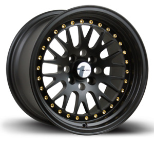 15x8 Avid 1 Wheels Av 12 4x100 25 Matte Black Rim Fits Acura Intergra 1986 01
