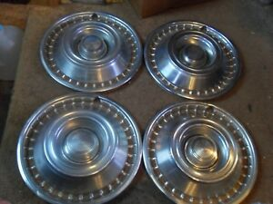 Vintage 1960s 70s Chevy Impala Chevelle Hubcaps Wheel Covers Removable Center