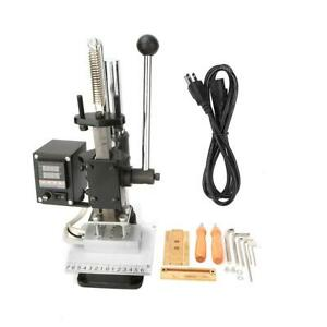 Lo Go Press Marking Machine Hot Foil Stamping For Leather Pvc Bronzing Us Plug
