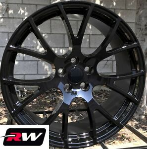 20 Rw 2528 Gloss Black Wheels For Chrysler 300 2005 2019 Rims 20x9 20x10