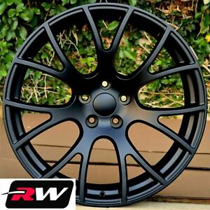20 Rw 2528 Matte Black Wheels For Chrysler 300 2005 2019 Rims 20x9 20x10
