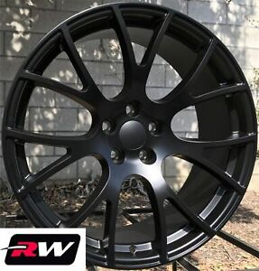 20 Rw 2528 Satin Black Wheels For Chrysler 300 2005 2019 Rims 20x9 Inch