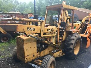 Ford 555 Tractor Loader Backhoe 1980 s Used Great Condition Works Nicely