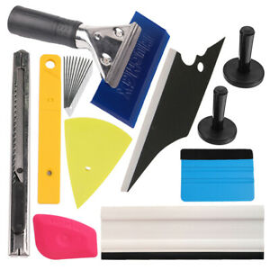 10 Pcs Car Window Tint Wrapping Vinyl Tools Squeegee Scraper Applicator Kits