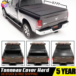Hard Bed Cover 5 7ft Tri Fold Tonneau Cover For 09 18 Dodge Ram 1500 2500 3500