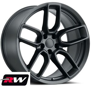 20 Dodge Charger Oe Factory Replica Wheels 2641 Satin Black Staggered Rims