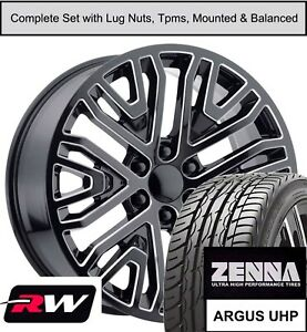 22 Wheels And Tires For Gmc Yukon Replica 997m Gm Accessory Black Milled Rims