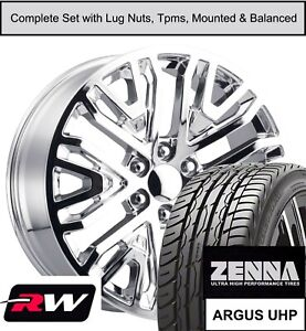 20 Inch Wheels And Tires For Chevy Tahoe Replica 2019 Gm Accessory Chrome Rims