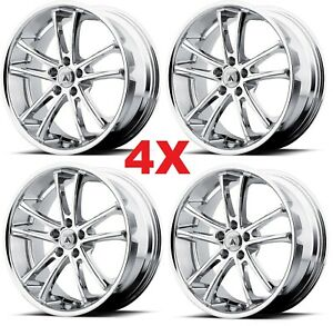 22 Chrome Wheels Rims Asanti Set 4 5x115