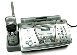 Panasonic Kx fpg376 Plain Paper Fax W 2 4ghz Cordless Phone And Digital Answer