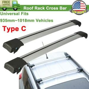 2pcs Type C Aluminum Roof Rack Top Cross Bar For Cargo Carrier Luggage Universal
