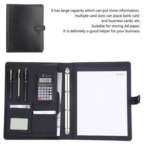 Professional A4 Pu Leather Business File Folder Document Holder Office Supplies