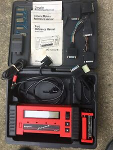 Nice Clean Obd1 And Obd11 Snapon Mt2500 Scanner W Adaptors Keys Carry Case